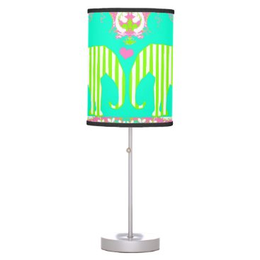 Beach Themed Love Elephants Palm Beach Lamp