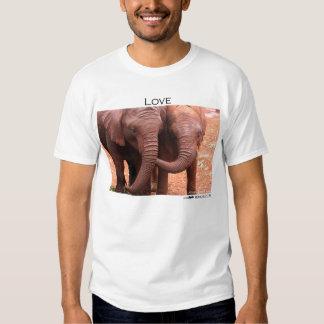"""Love"" elephants T Shirt"