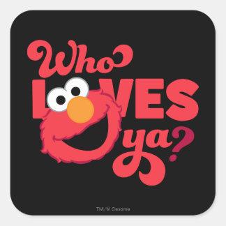 Love Elmo Square Sticker
