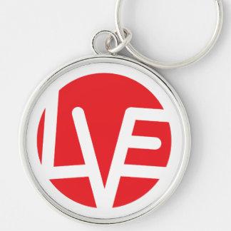 Love Emblem Premium Round Keychain