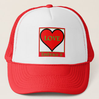 Love Embrace It Expression Graphic Design Trucker Hat