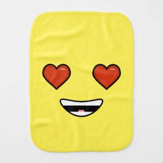 Love Emoji Burp Cloth