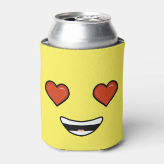Love Emoji Can Cooler