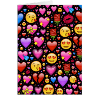 Love Emoji Customized Card
