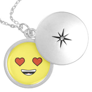 Love Emoji Silver Plated Necklace