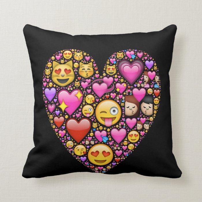 Throw Pillows Elegant : Love emoji throw pillow Zazzle