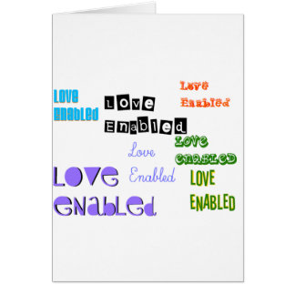 Love Enabled Tag Card