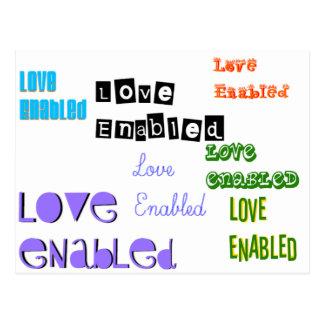 Love Enabled Tag Postcard