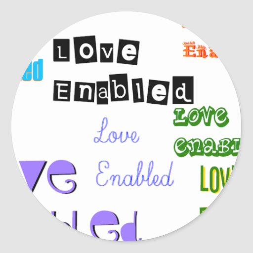 Love Enabled Tag Sticker