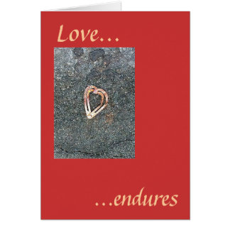 Love endures card