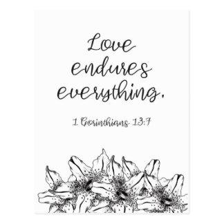 Love Endures Everything Postcard