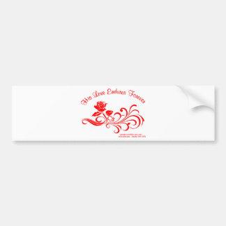 love endures red bumper sticker