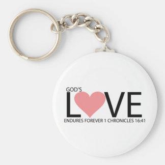 LOVE ENDURES ROUND KEY CHAIN