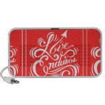 LOVE ENDURES SHOUTOUT RED WHITE SAYINGS EXPRESSION PC SPEAKERS