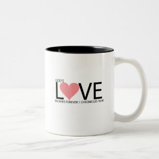 LOVE ENDURES Two-Tone COFFEE MUG
