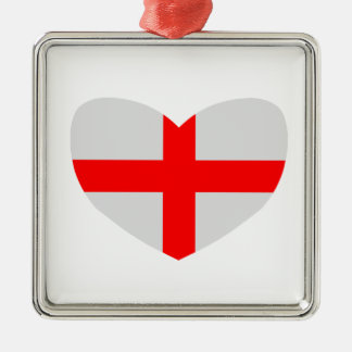 Love England Metal Ornament