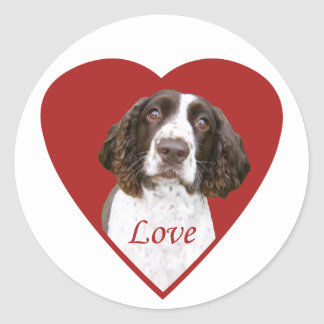 Love English Springer Spaniel Stickers