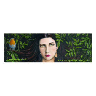 Love Entangled Bookmark Mini Business Card