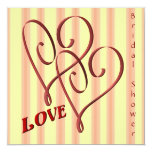 Love Entwined Hearts Bridal Shower Invitation