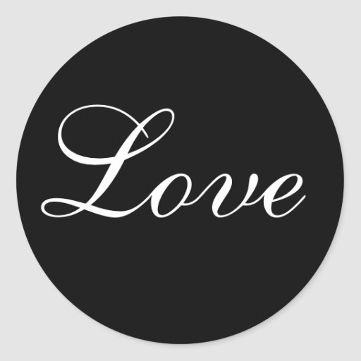 Love Envelope Seal In Black And White Stickers
