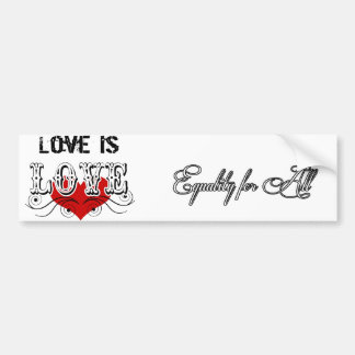 Love & Equality Bumper Sticker!!
