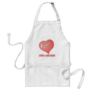 love equals boo boos adult apron