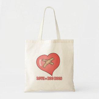 love equals boo boos budget tote bag