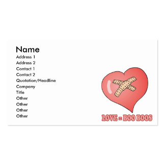 love equals boo boos Double-Sided standard business cards (Pack of 100)