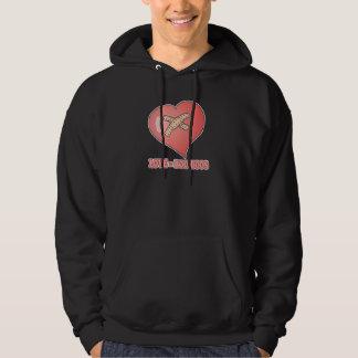 love equals boo boos hooded sweatshirt