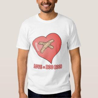 love equals boo boos tee shirt