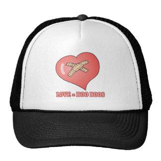 love equals boo boos trucker hat