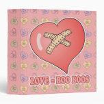 love equals boo boos vinyl binder