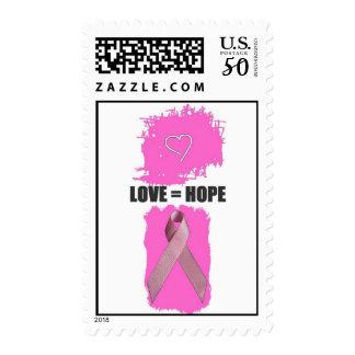 LOVE EQUALS HOPE 2007 POSTAGE