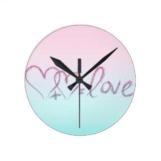 Love Equation Round Clock