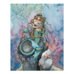 Love Eternal Mermaid Mother and Baby Poster