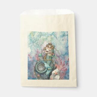 Love Eternal Mother and Baby Mermaids Fantasy Art Favor Bag