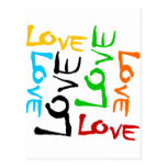 Love Every Which Way In 6 Colors Postcards