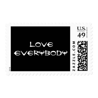 Love Everybody Postage Stamps