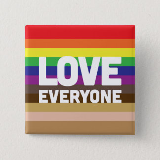 LGBT Buttons - Rainbow Love Button