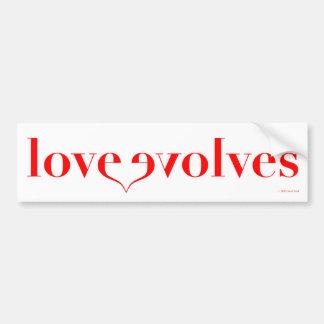 Love Evolves - The PSA for Everyday Bumper Sticker