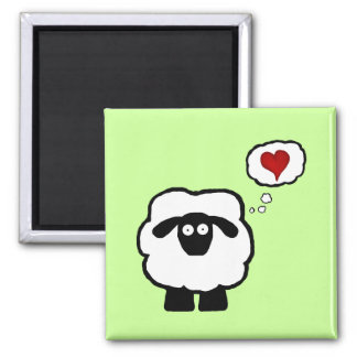 Love Ewe 2 Inch Square Magnet