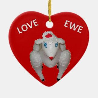 Love Ewe Ceramic Ornament
