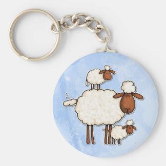 love ewe (no txt) basic round button keychain