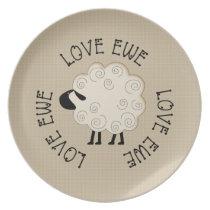 Love Ewe Plate