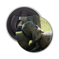 Love Ewe Sheep Button Bottle Opener