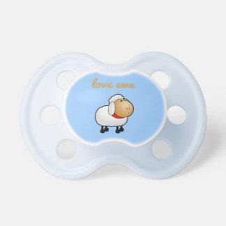Love Ewe (you) Blue Baby Pacifiers