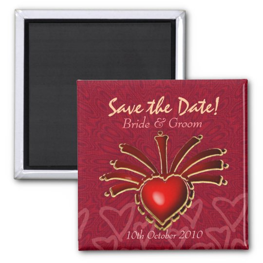 Love Excitement Save the Date Magnet
