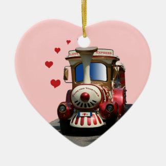 Love Express Train Ceramic Ornament
