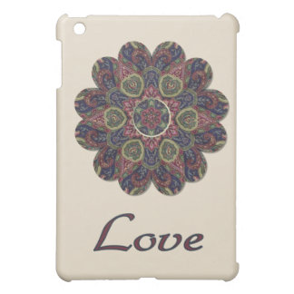 LOVE Fabric Collage Flower Inspiration Series Cover For The iPad Mini