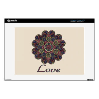 LOVE Fabric Collage Flower Inspiration Series Laptop Skins